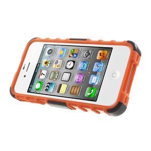 Outdoor odolný obal na mobil iPhone 4 - oranžový - 3