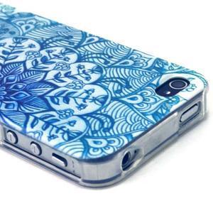Emotive gelový obal na mobil iPhone 4 - modrá mandala - 3