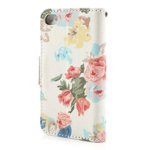 Elegantní PU kožené pouzdro na iPhone 4 - bílé pozadí - 3