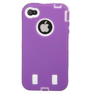 Armor vysoce odolný obal na iPhone 4 - fialový - 3