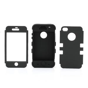 Extreme odolný kryt 3v1 na mobil iPhone 4 - červený - 3