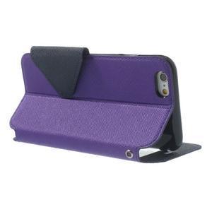 Peněženkové pouzdro s okýnkem na iPhone 6 a 6s - fialové - 3