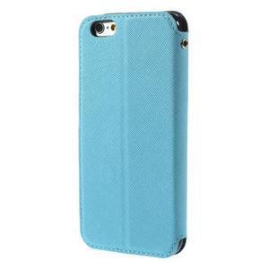Peněženkové pouzdro s okýnkem na iPhone 6 a 6s - světle modré - 3