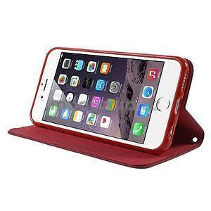 Klopové pouzdro na iPhone 6 a iPhone 6s - červené - 3