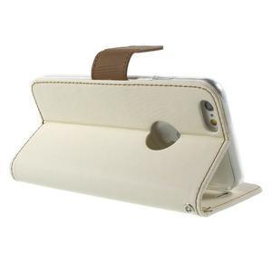 Peněženkové koženkové pouzdro na iPhone 6s a 6 - bílé - 3