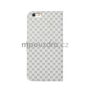 Mřížkované koženkové pouzdro na iPhone 6 a iPhone 6s - šedé - 3