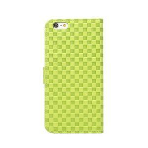 Mřížkované koženkové pouzdro na iPhone 6 a iPhone 6s - zelené - 3