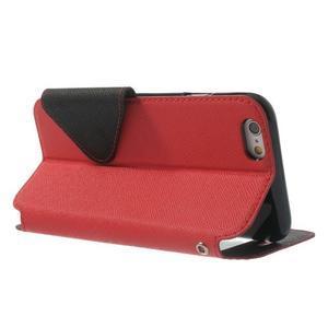 Peněženkové pouzdro s okýnkem na iPhone 6 a 6s - červené - 3