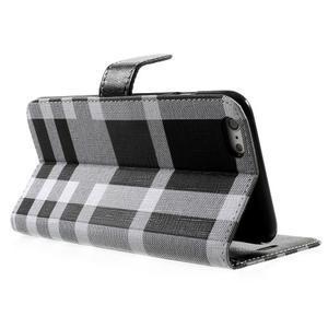 Kárované peněženkové pouzdro na iPhone 6 Plus a 6s Plus - černobílé - 3