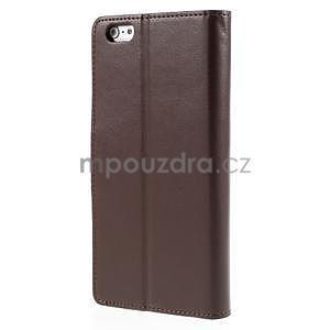 Peněženkové pouzdro pro iPhone 6 Plus a 6s Plus - hnědé - 3