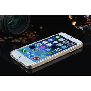 Stylový kryt s kovovými zády pro iPhone 6 Plus a 6s Plus - champagne - 3