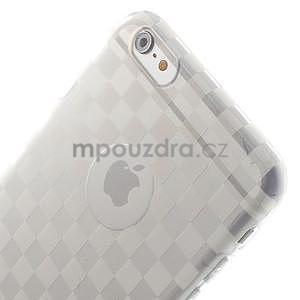 Transparentní kostkovaný gelový obal na iPhone 6 Plus a 6s Plus - 3