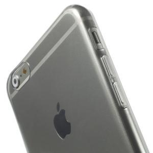 Ultra slim lesklý gelový obal na iPhone 6 Plus a 6s Plus - šedý - 3