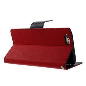 Peněženkové pouzdro pro iPhone 6 Plus a 6s Plus - červené - 3
