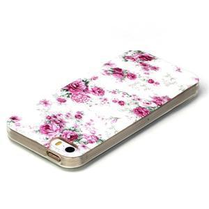 Gelový obal na mobil iPhone SE / 5s / 5 - květiny - 3