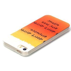 Gelový obal na mobil iPhone SE / 5s / 5 - drink - 3