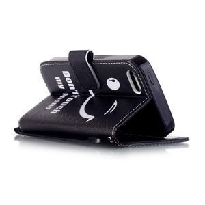 Peněženkové pouzdro na mobil iPhone SE / 5s / 5 - nedotýkat se - 3