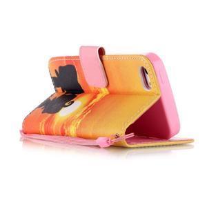 Peněženkové pouzdro na mobil iPhone SE / 5s / 5 - zapadající slunce - 3