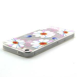 Transparentní gelový obal na mobil iPhone SE / 5s / 5 - květinky - 3