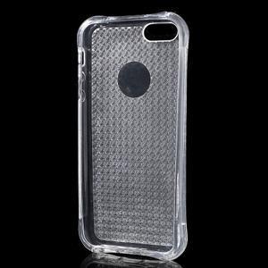 Diamonds gelový obal se silným obvodem na iPhone SE / 5s / 5 - transparentní - 3