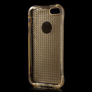 Diamonds gelový obal se silným obvodem na iPhone SE / 5s / 5 - zlatý - 3