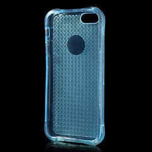 Diamonds gelový obal se silným obvodem na iPhone SE / 5s / 5 - modrý - 3
