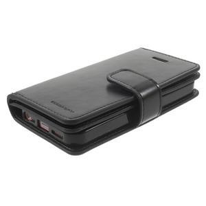 Extrarich PU kožené pouzdro na iPhone SE / 5s / 5 - černé - 3