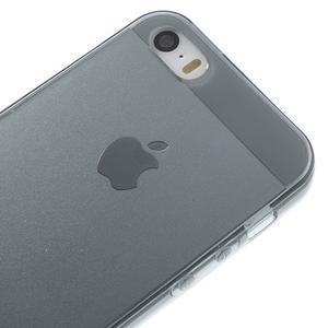 Gelový transparentní obal na iPhone SE / 5s / 5 - šedý - 3