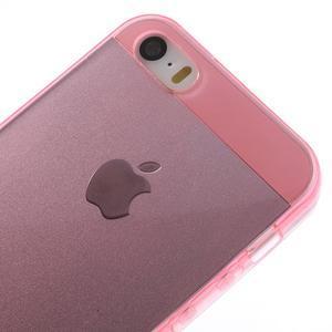 Gelový transparentní obal na iPhone SE / 5s / 5 - růžový - 3