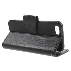 Cross PU kožené pouzdro na iPhone SE / 5s / 5 - černé - 3