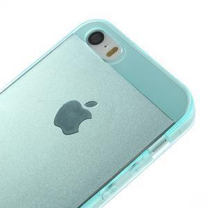 Gelový transparentní obal na iPhone SE / 5s / 5 - cyan - 3