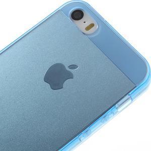 Gelový transparentní obal na iPhone SE / 5s / 5 - modrý - 3