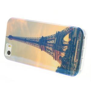 Blueray gelový obal s odlesky na iPhone SE / 5s / 5 - Eiffelova věž - 3