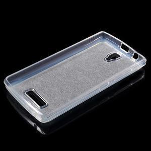 Povrchově třpytivý gelový obal na mobil Lenovo A2010 - šedý - 3