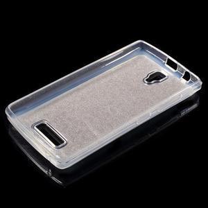Povrchově třpytivý gelový obal na mobil Lenovo A2010 - zlatý - 3