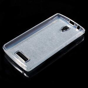 Povrchově třpytivý gelový obal na mobil Lenovo A2010 - světlemodrý - 3