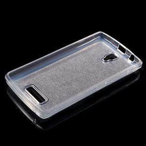 Povrchově třpytivý gelový obal na mobil Lenovo A2010 - fialový - 3