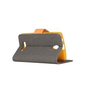 Clothy PU kožené na mobil Lenovo A2010 - šedé - 3