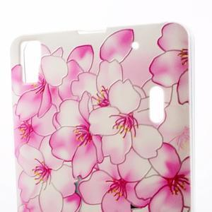 Softy gelový obal na mobil Lenovo A7000 / K3 Note - květy švestky - 3