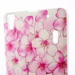 Softy gelový obal na mobil Lenovo A7000 / K3 Note - květy švestky - 3/5