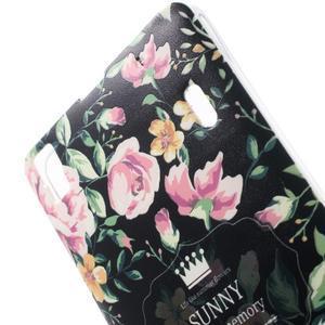 Květinový gelový obal na mobil Lenovo A7000 / K3 Note - černé pozadí - 3