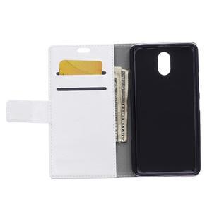 GX koženkové peněženkové na mobil Lenovo Vibe P1m - bílé - 3