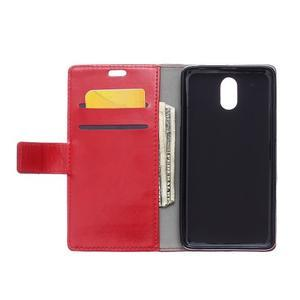 GX koženkové peněženkové na mobil Lenovo Vibe P1m - červené - 3