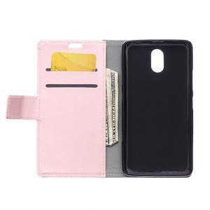 GX koženkové peněženkové na mobil Lenovo Vibe P1m - růžové - 3
