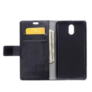 GX koženkové peněženkové na mobil Lenovo Vibe P1m - černé - 3