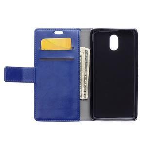 GX koženkové peněženkové na mobil Lenovo Vibe P1m - modré - 3