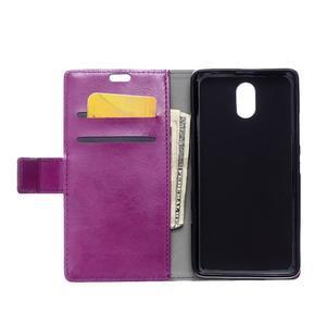 GX koženkové peněženkové na mobil Lenovo Vibe P1m - fialové - 3