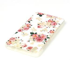 Softy gelový obal na mobil Lenovo S850 - květiny - 3