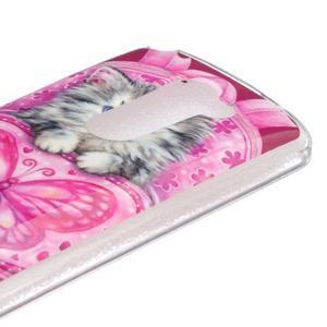 Jelly gelový obal na mobil LG Leon - koťátko - 3