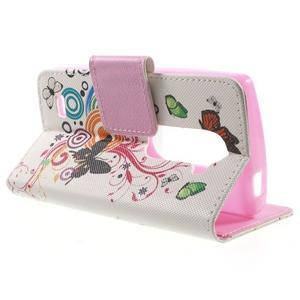 Emotive knížkové pouzdro na mobil LG Leon - motýlci - 3